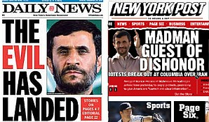 Ahmadinejad en New York